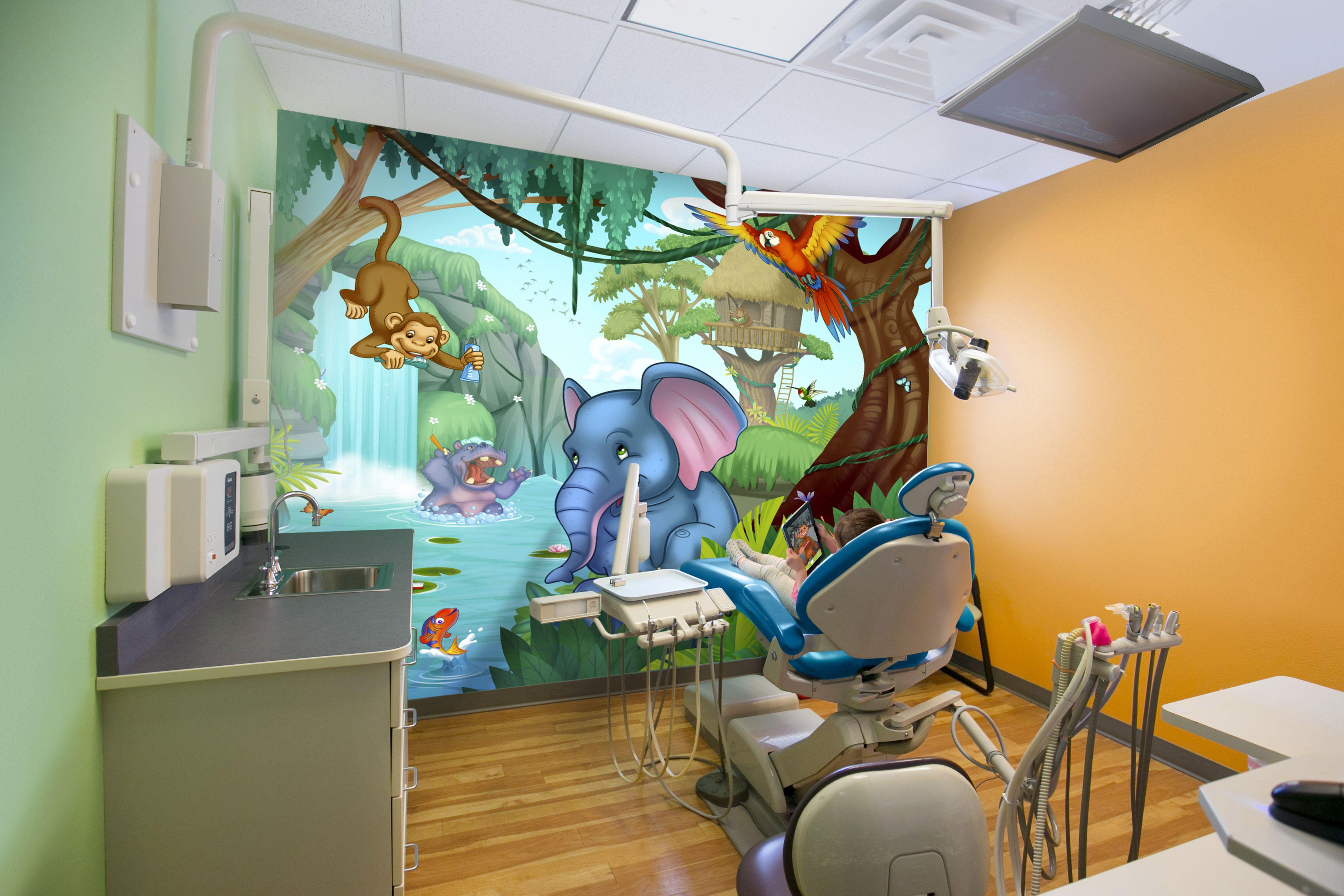 Themed Dentist Office Augmented Reality Vivarra Pediatric Medical Decor Murals