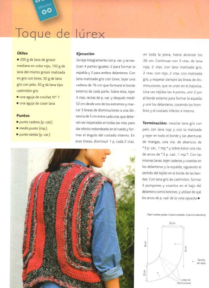 Ideas para el hogar: Tapados chalecos y buzos | Crochet moda ...
