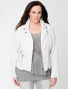 d80558f6f9a Lane Collection Moto Jacket by Lane Bryant