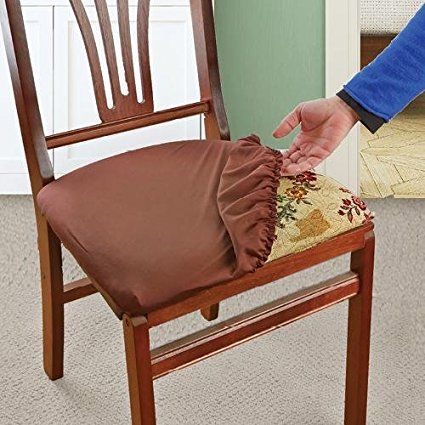 Soft Dining Room Chair Seat Covers Removable Elastic Waterproof Slipcover