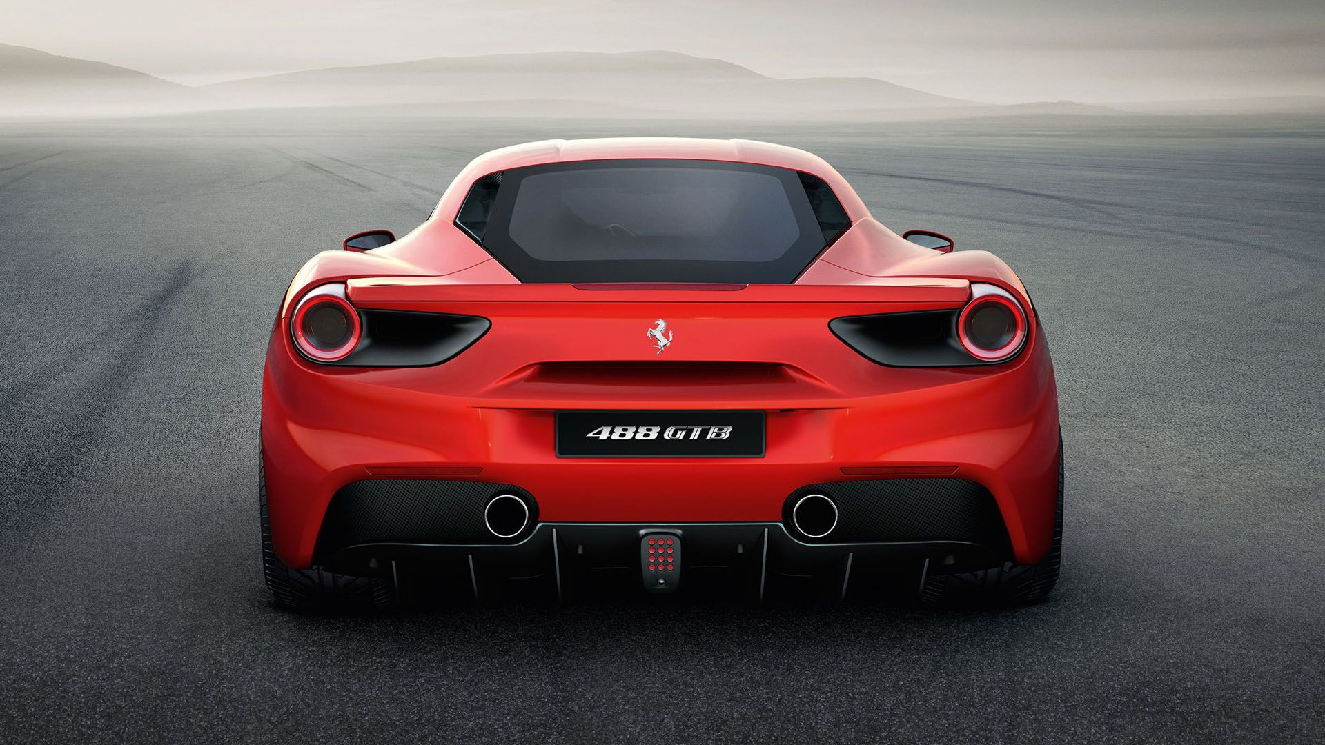 Back View Ferrari 488 Gtb Wallpaper Wallpapers Hd Pinterest