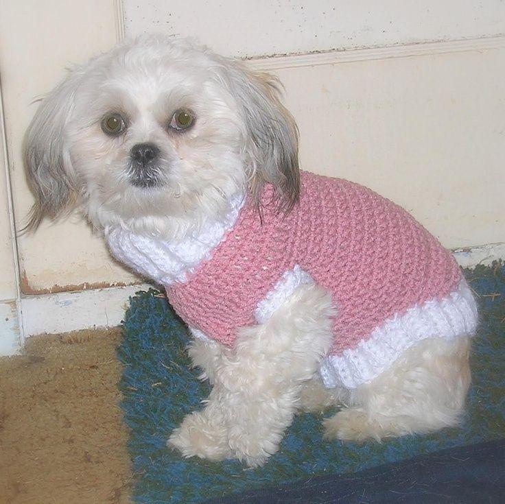 free+small+dog+crochet+pattern | Crochet+Sweater+Patterns | Pdf Pattern - EMMA Little Dog Sweater ... #dogcrochetedsweaters