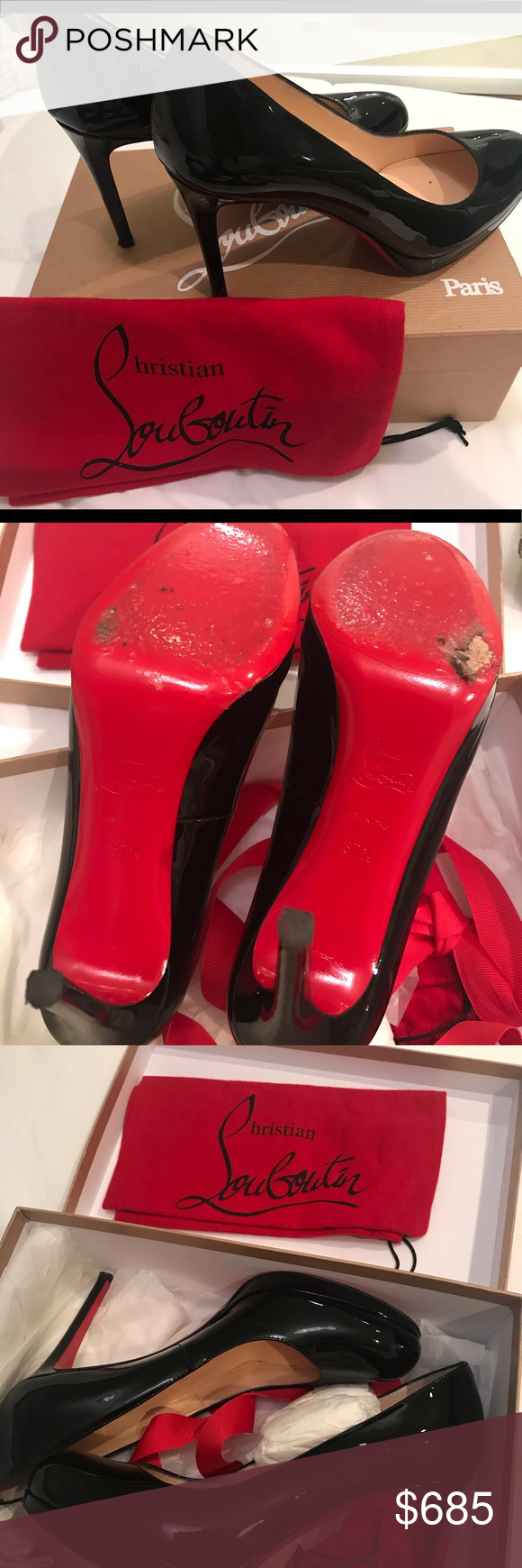 low priced f692b fa577 Christian Louboutin Simple Pump 100 Patent Calf Christian ...