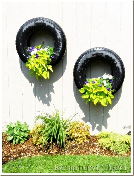 Things To Do With Flower Pots Hanging Tire Flower Planters