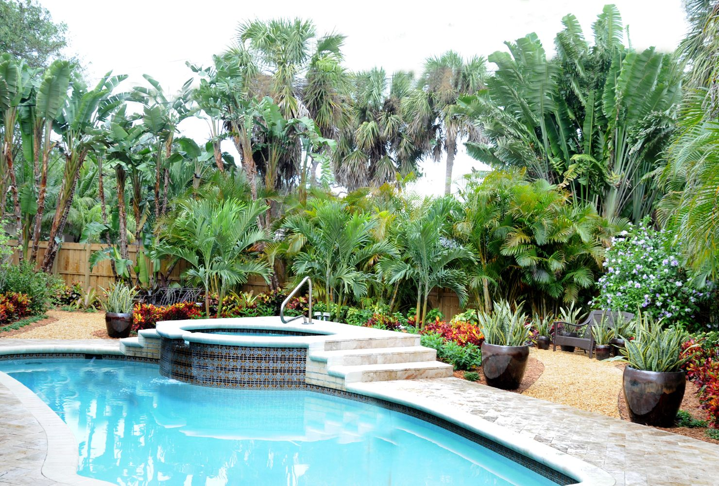 This Boca Raton Florida Pool Landscape Features