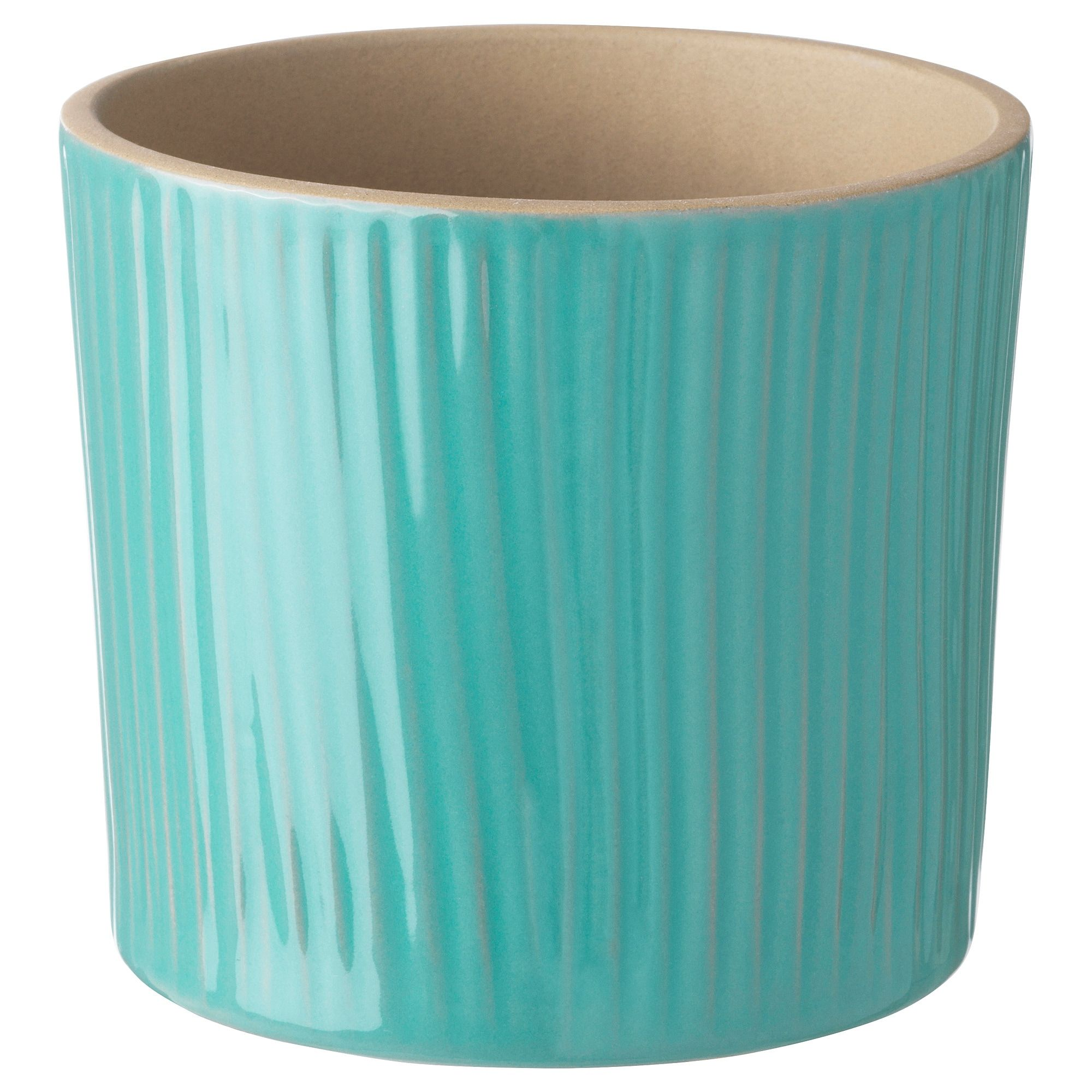 Ikea Chiafron Turquoise Plant Pot Indoor Plant Pots Potted Plants Flower Pots