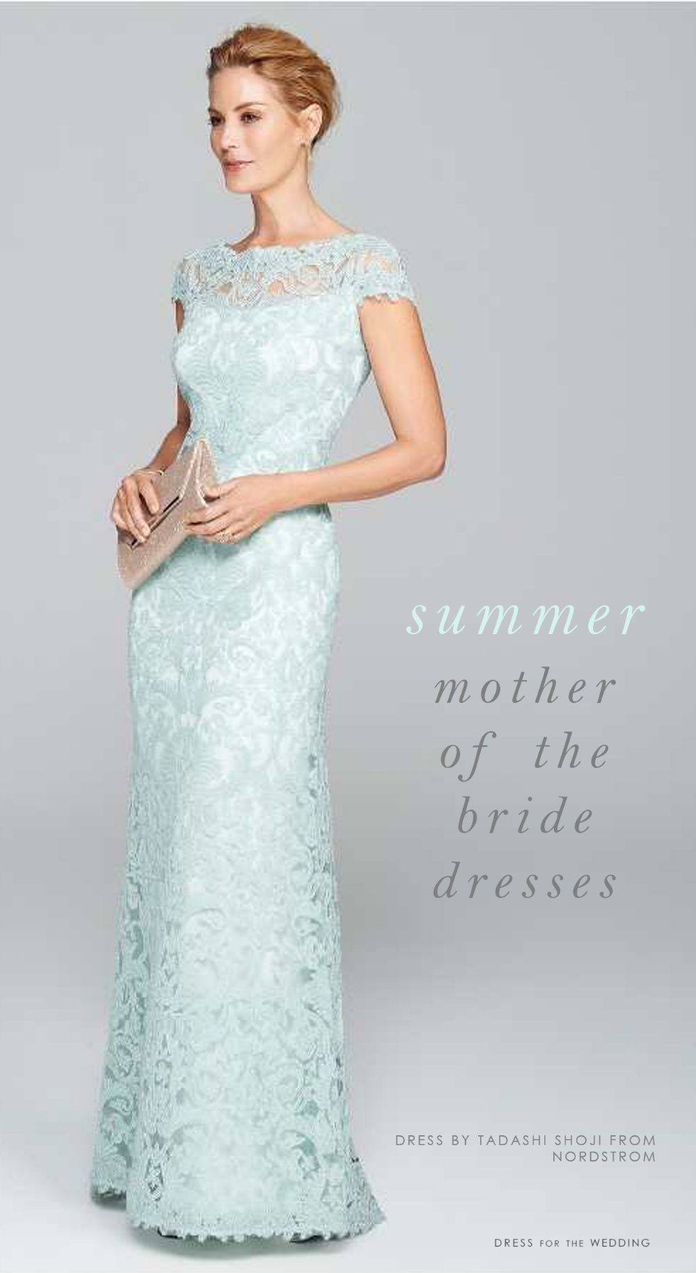 d5dd09e9902 Summer Dresses for Mothers of the Bride or Mothers of the Groom Featured  Dress  Tadashi Shoji Illusion Yoke Lace Gown. Buy it from Nordstrom Summer .
