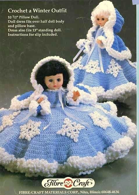 Snowflake 105 Pillow 13 Bed Doll Or Standing Doll Crochet Pattern