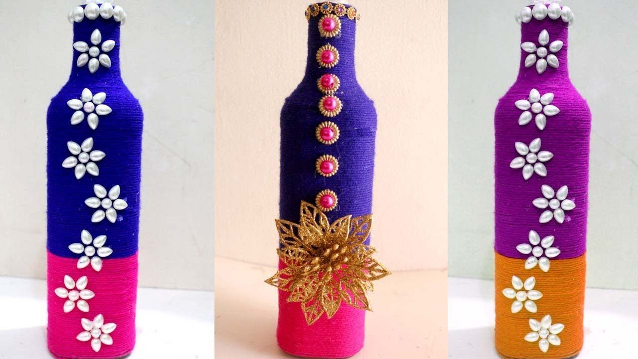 Empty Wine Bottle Decoration Ideas Captivating Diy Wine Bottle Home Decoration Idea  Empty Wine Bottle Decoration Design Inspiration