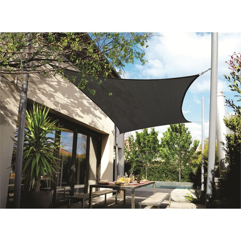 Coolaroo 5 0 X 3 0m Rectangle Charcoal Extreme Shade Sail