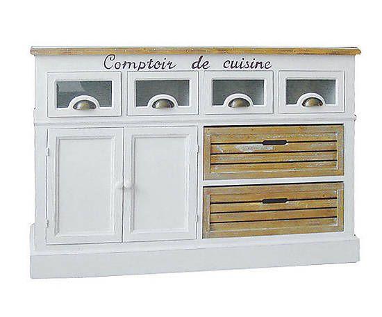 Credenza in paulonia con 4 cassetti e 2 cassette cuisine for Dalani mobili credenze