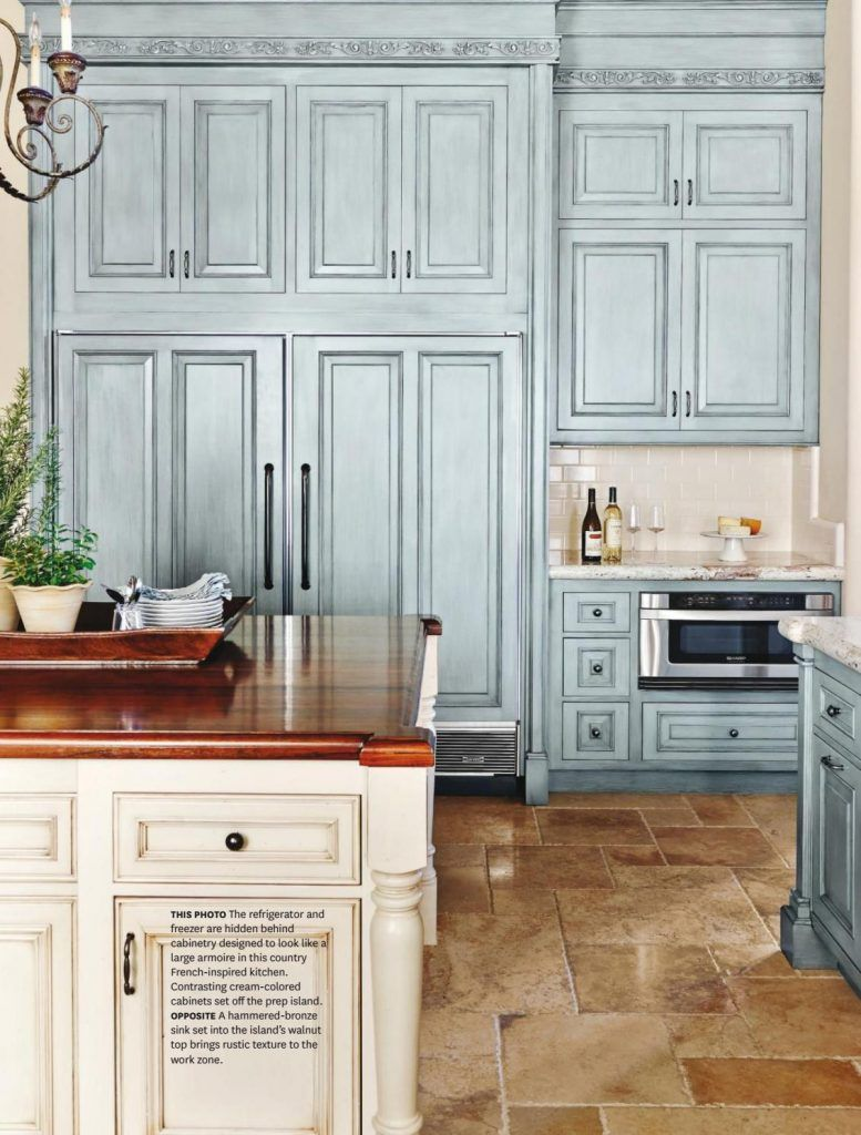 French Country Kitchen In Blue Color Scheme For The Home
