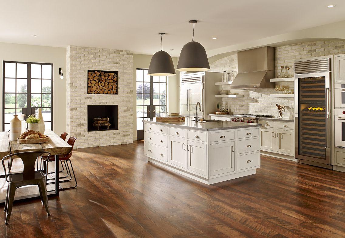 Eldorado stone tundra brick chalk dust kitchen for Eldorado stone kitchen