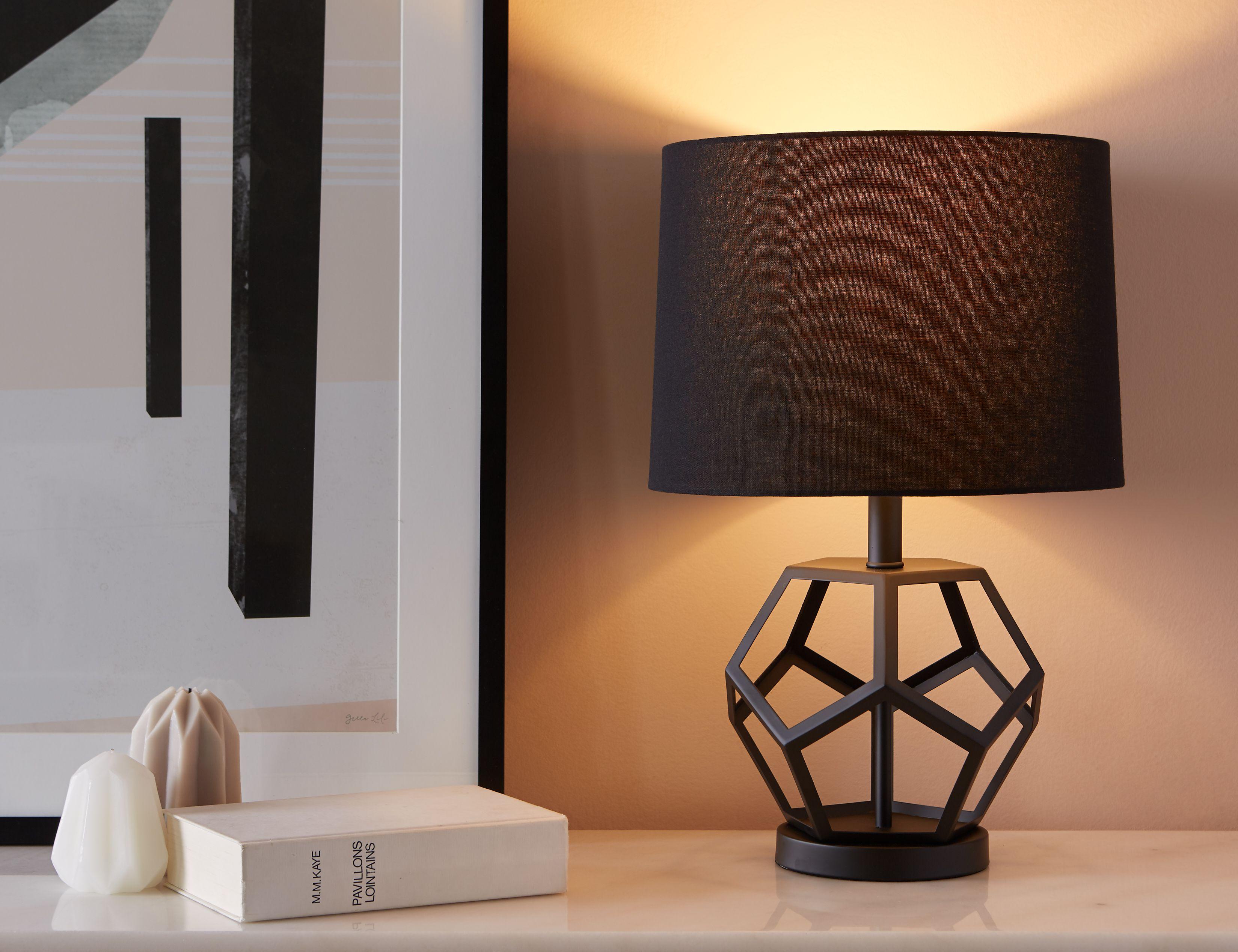 Black Table Lamp 54cm Height 22 Quot Structube Lea Black Table Lamps Table Lamp