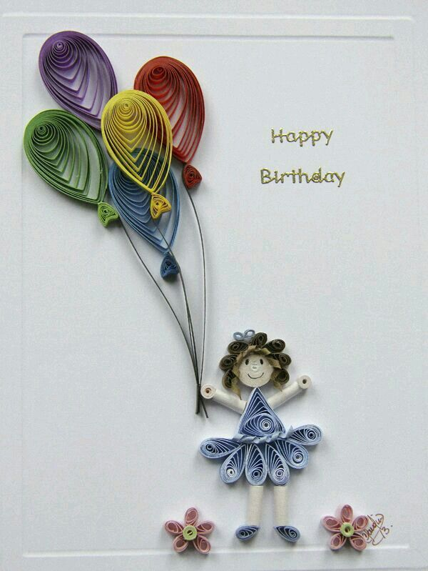 Groovy Quilling With Images Paper Quilling Cards Quilling Birthday Personalised Birthday Cards Cominlily Jamesorg