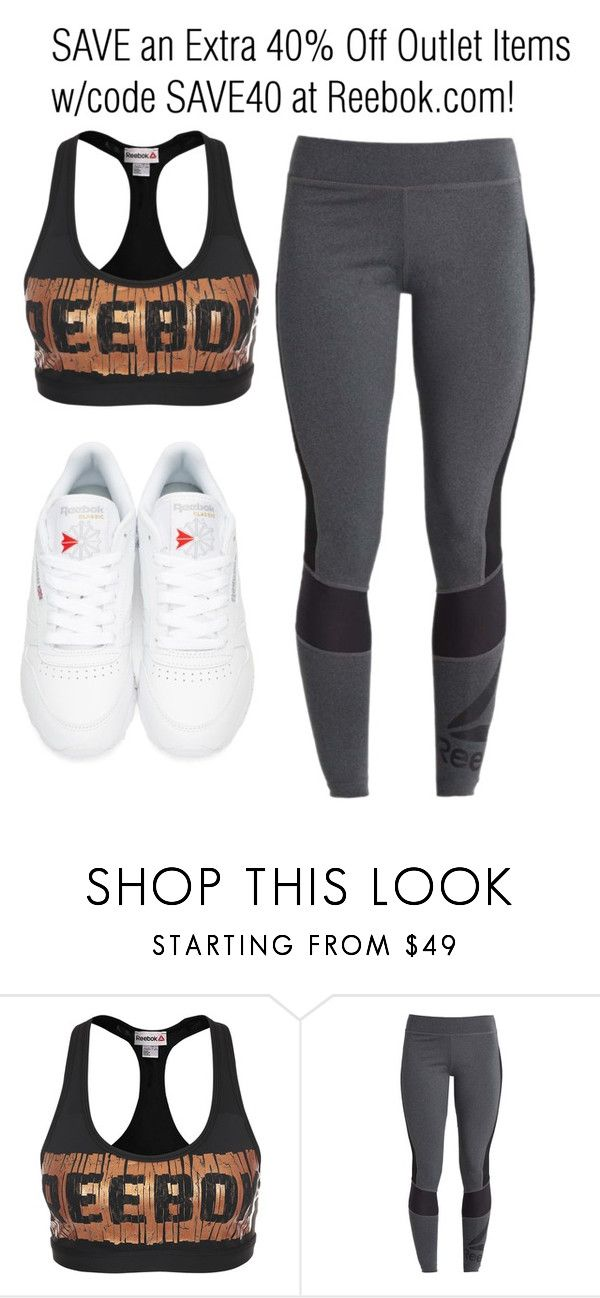 """""""Reebok savings - 40% off"""" by lseed87 ❤ liked on Polyvore featuring Reebok"""