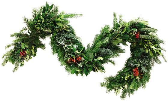 Call In The Garden - Fresh cut greens for a 6 ft. garland that can be ordered. Only $44