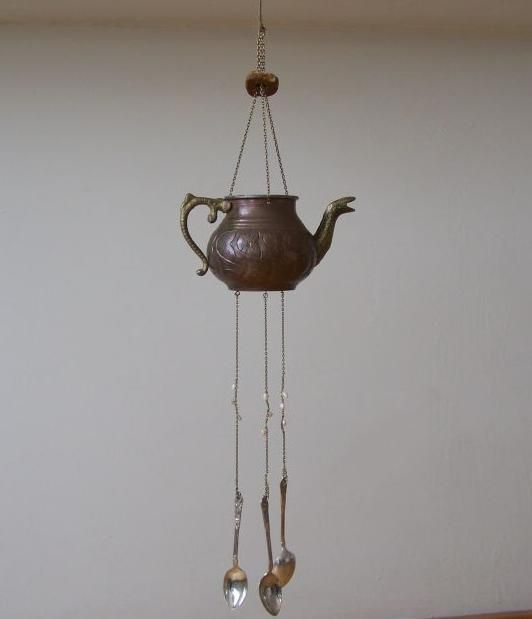 Teapot Wind Chime | Old bronze teapot wind chime | A drop in the ocean
