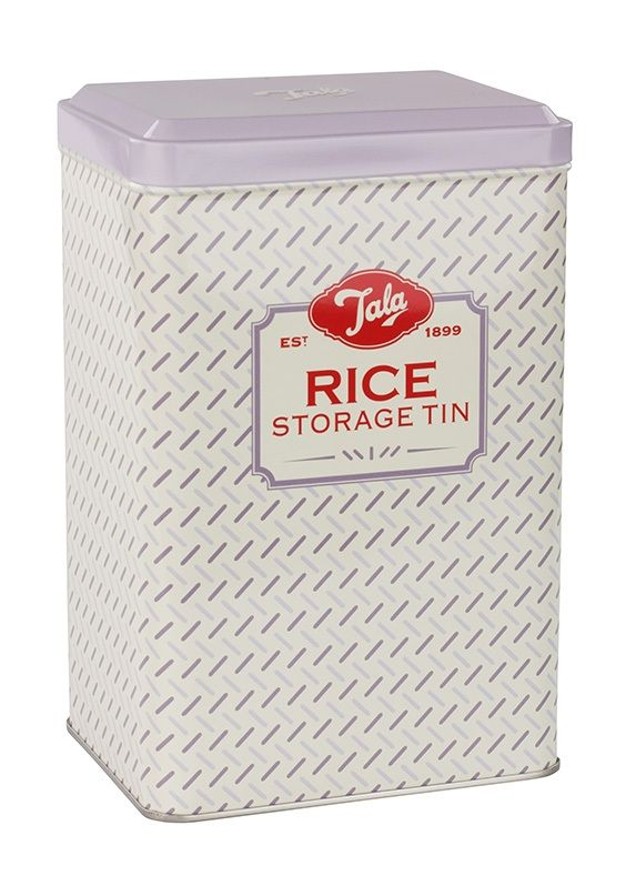 Part of the Pale Hues Tinware range, this lilac storage tin is designed to store rice in the home. The rice tin is the convenient and stylish way to store rice and other grains