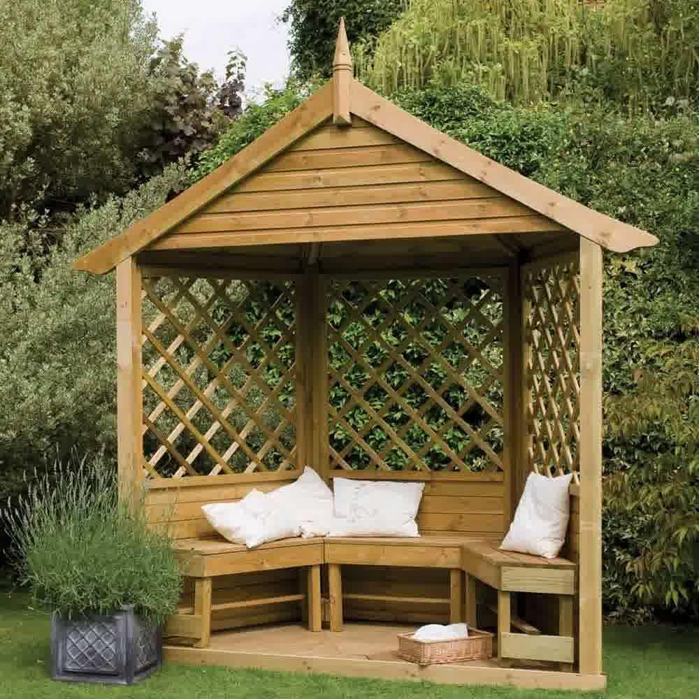 Small-Wooden-Garden-Gazebo-Design | Landscape | Pinterest | Cheap ...