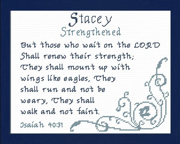 Cross stitch stacey with a name meaning and a bible verse name cross stitch bible verses name meaningsfriendship giftscross stitch designs baby negle Choice Image