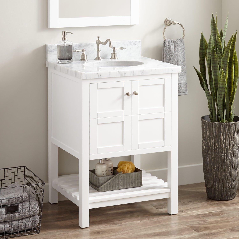 24 Everett Vanity For Undermount Sink  White  Bathroom