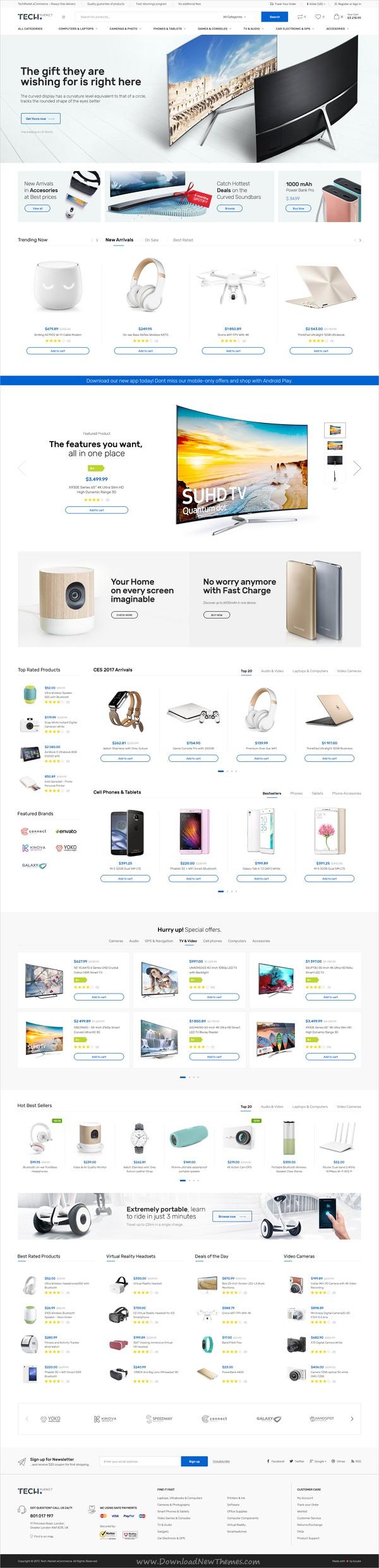 Techmarket Electronics Ecommerce Psd Woocommerce Themes Ecommerce Web Design