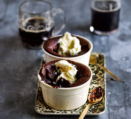 Guinness chocolate puddings | Recipe | Bbc good food ...