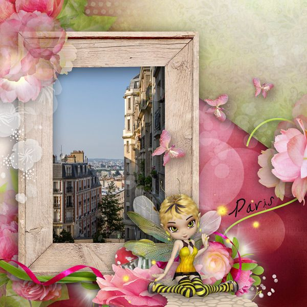 Kit is Fairies in My Garden by Laras Digi World at Digital Scrapbook Studio! Get it now on sale...the whole collection!