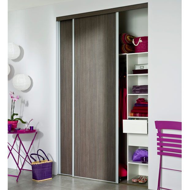 For our bedroom one panel wood colour and one full mirror Portes