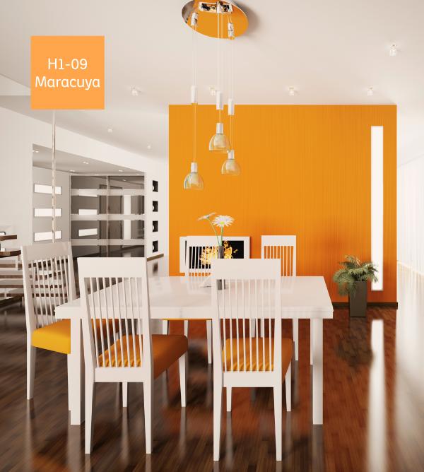 Puedes combinar los colores naranja con elementos de color - Combinar color naranja decoracion ...
