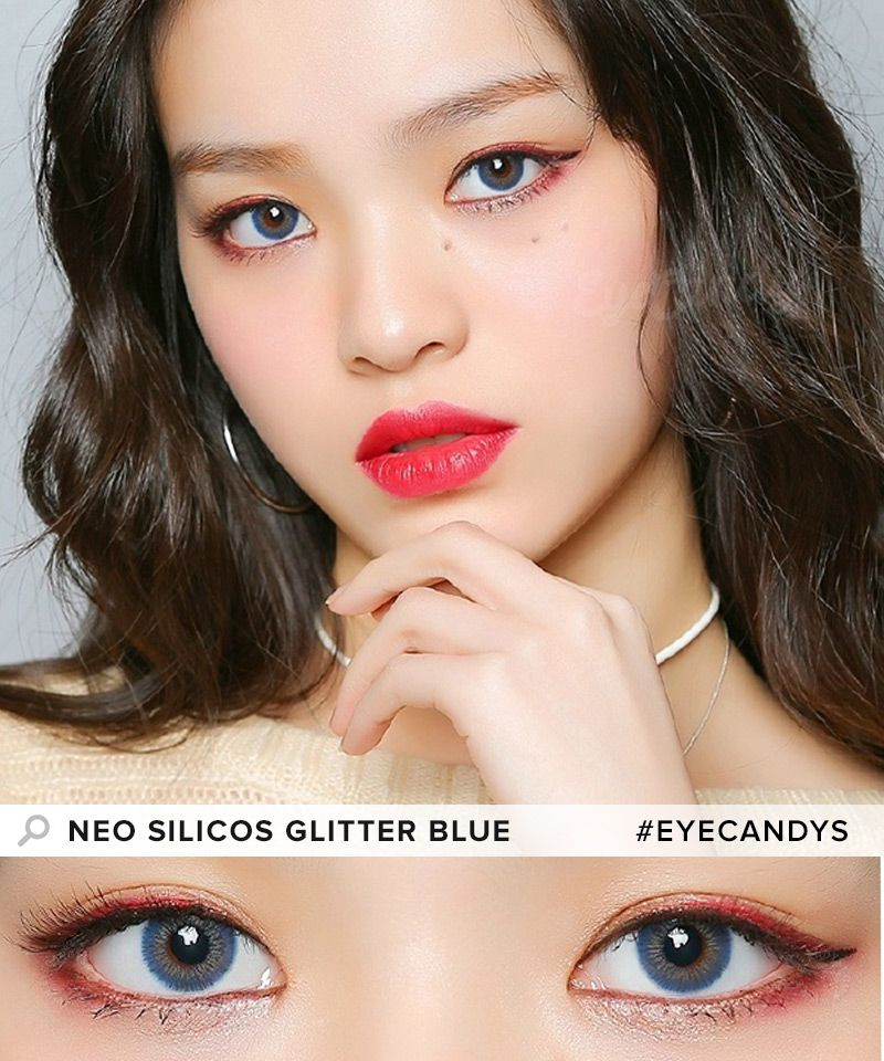 2e03c97de43 NEO Silicos Glitter Blue A touch of sparkle to your eyes is all you need to