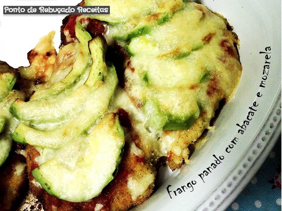 Breaded chicken with avocado and mozzarella