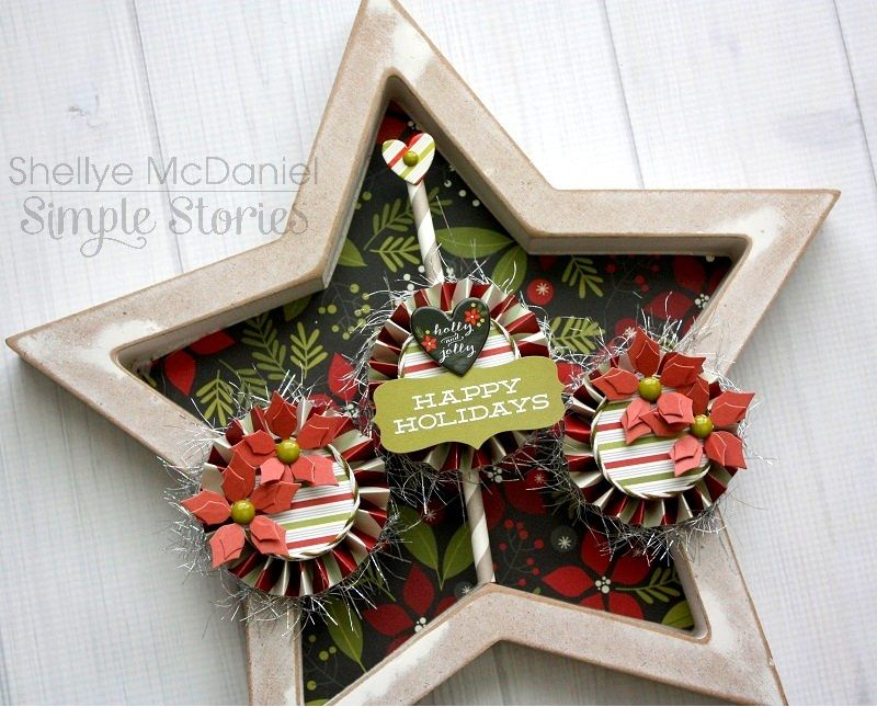 Holiday Home Decor by Shellye McDaniel - Scrapbook.com - Made with Simple Stories DIY collection.