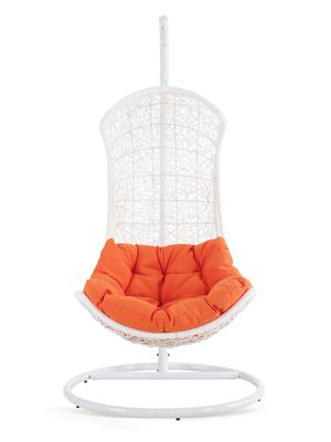 The Endow Rattan Outdoor Patio Swing Chair by Pearl River Modern NY on Gilt Home