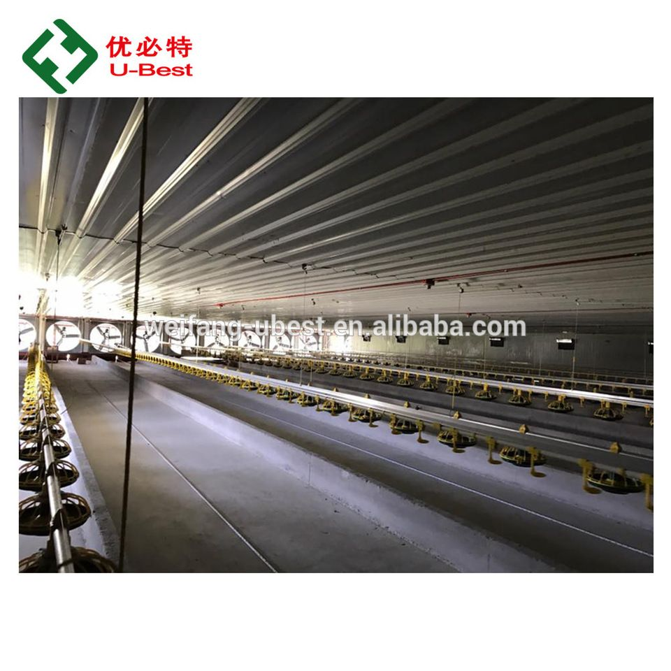 Tunnel Ventilation Poultry House Feeding Drinking Ventilation And Cooling Heating System For Broiler Chicken Farming