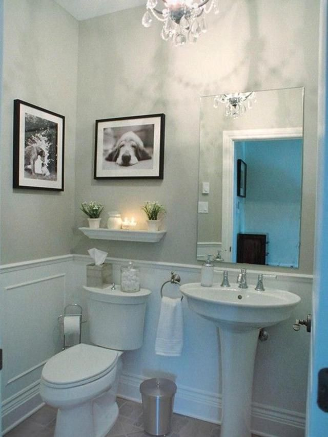 24 inspiring small powder room decor ideas bathroom - Small powder room decorating ideas ...