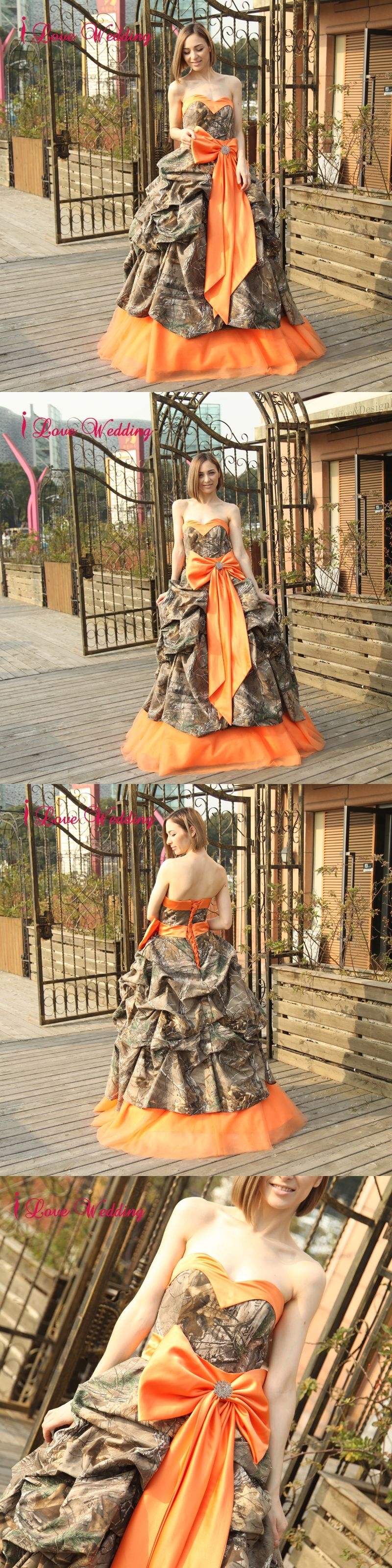 new camouflage wedding dresses ball gown sweetheart ruffles