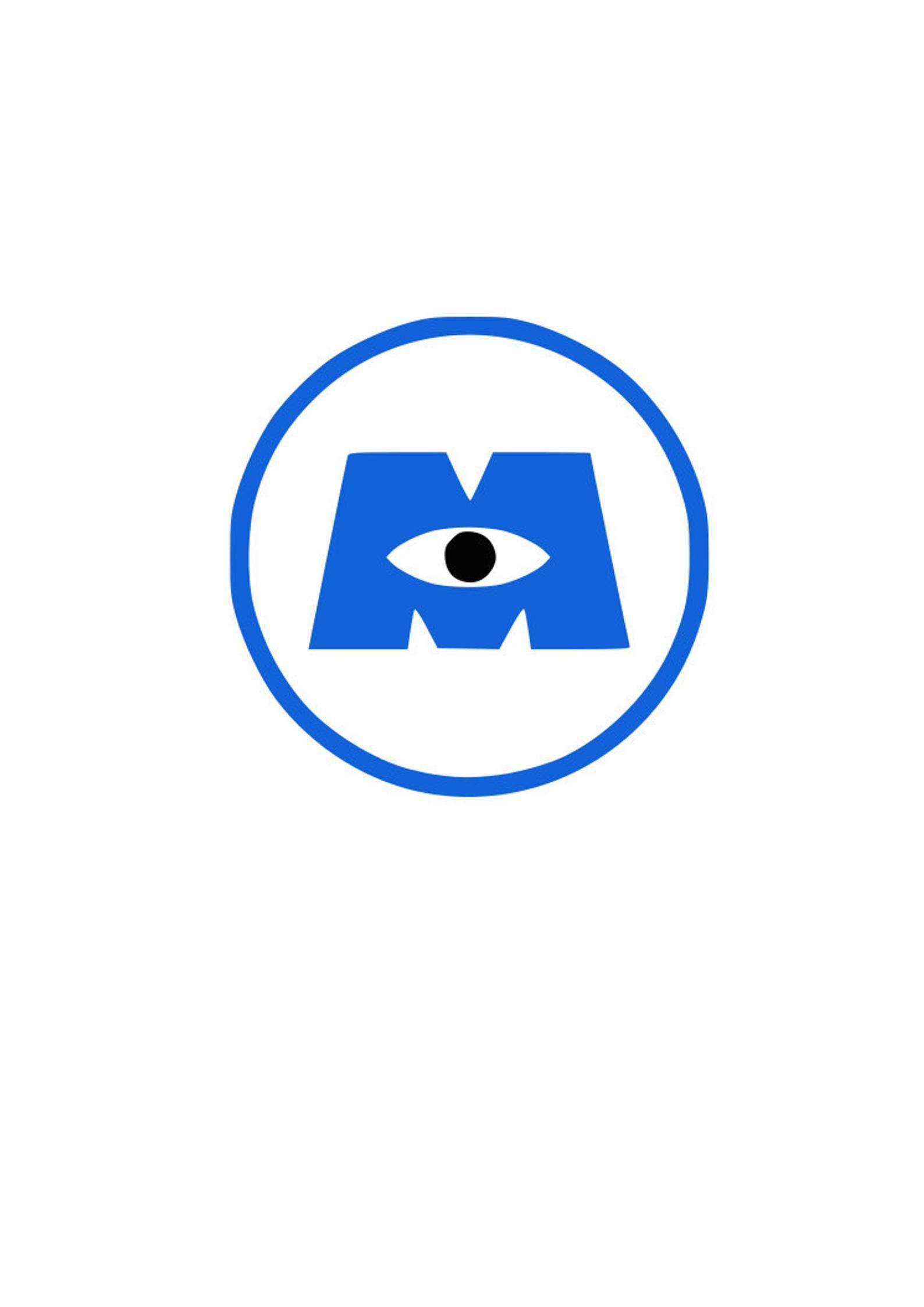 Monsters Inc Logo Vinyl Decal Pixar Car Laptop Cup Sticker Etsy Monsters Inc Logo Monsters Inc Vinyl Decals