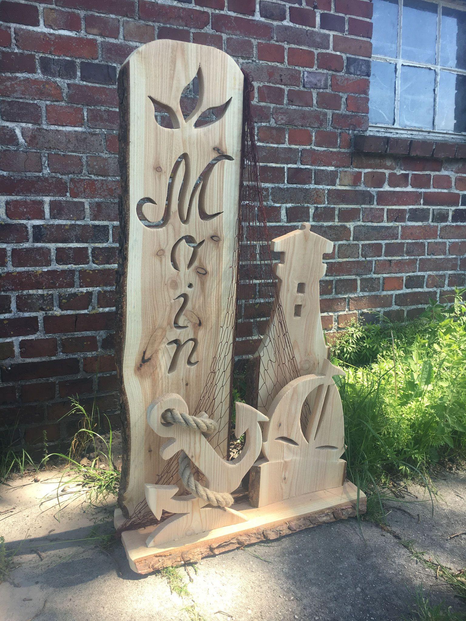 Weitere Ideen aus Lärchenholz - Auricher Zaunkönig #holzscheibendeko