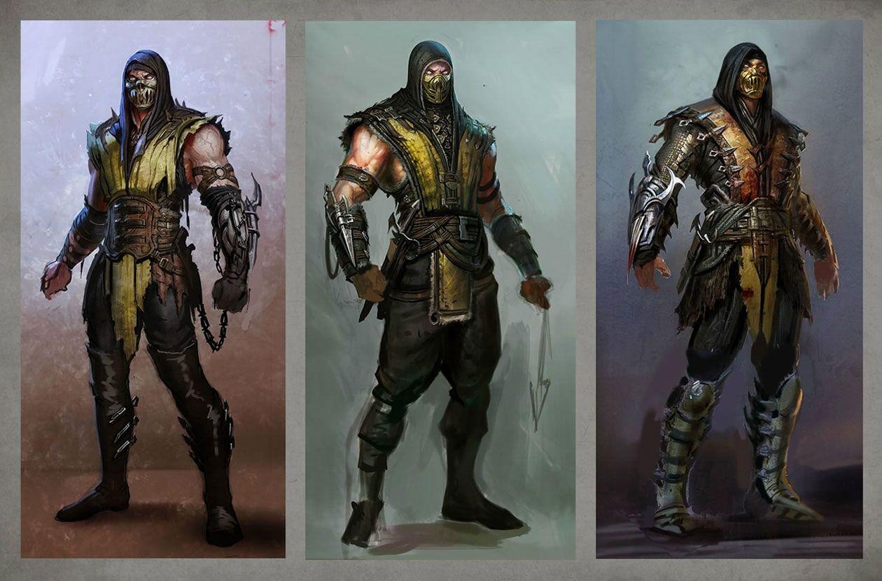 Scorpion Concepts From Mortal Kombat X Mortal Kombat X Mortal