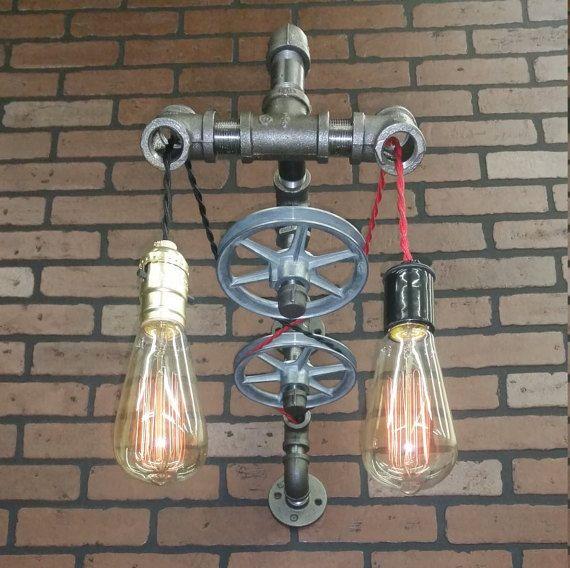 Bathroom Lamp Industrial Sconce Vintage Industrial Pulley Light Pendant Wall Light Machine
