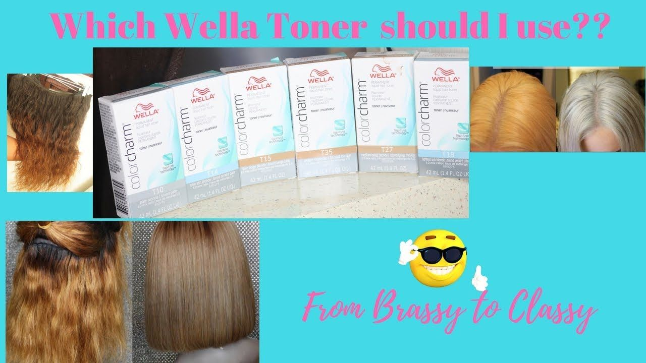 Brassy Orange Hair Which Wella Toner Should I Use Youtube Wella Toner Toner For Orange Hair Wella
