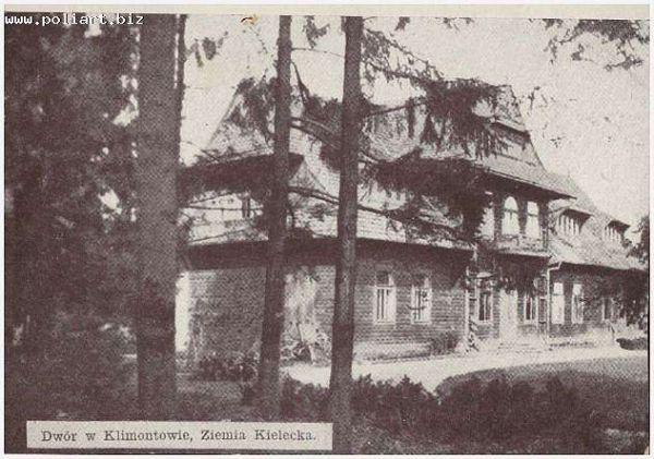 rok 1937, dwor w Klimontowie, ziemia Kielecka