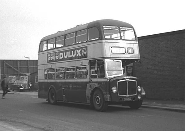 Colchester 23, 195MNO, an AEC Regent V with Massey H33/28R body, new in 1959. It lasted in service until 1971. Photo taken by David Lang, Fr...