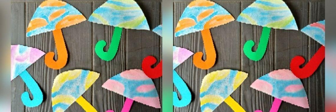 Deel 5: Paraplu en regenlaarzen knutselen. | Weer knutselen