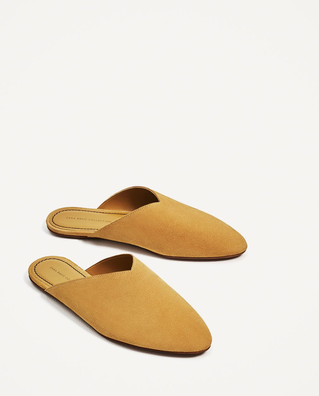 V-CUT LEATHER SLIDES-View all-SHOES-WOMAN | ZARA United States