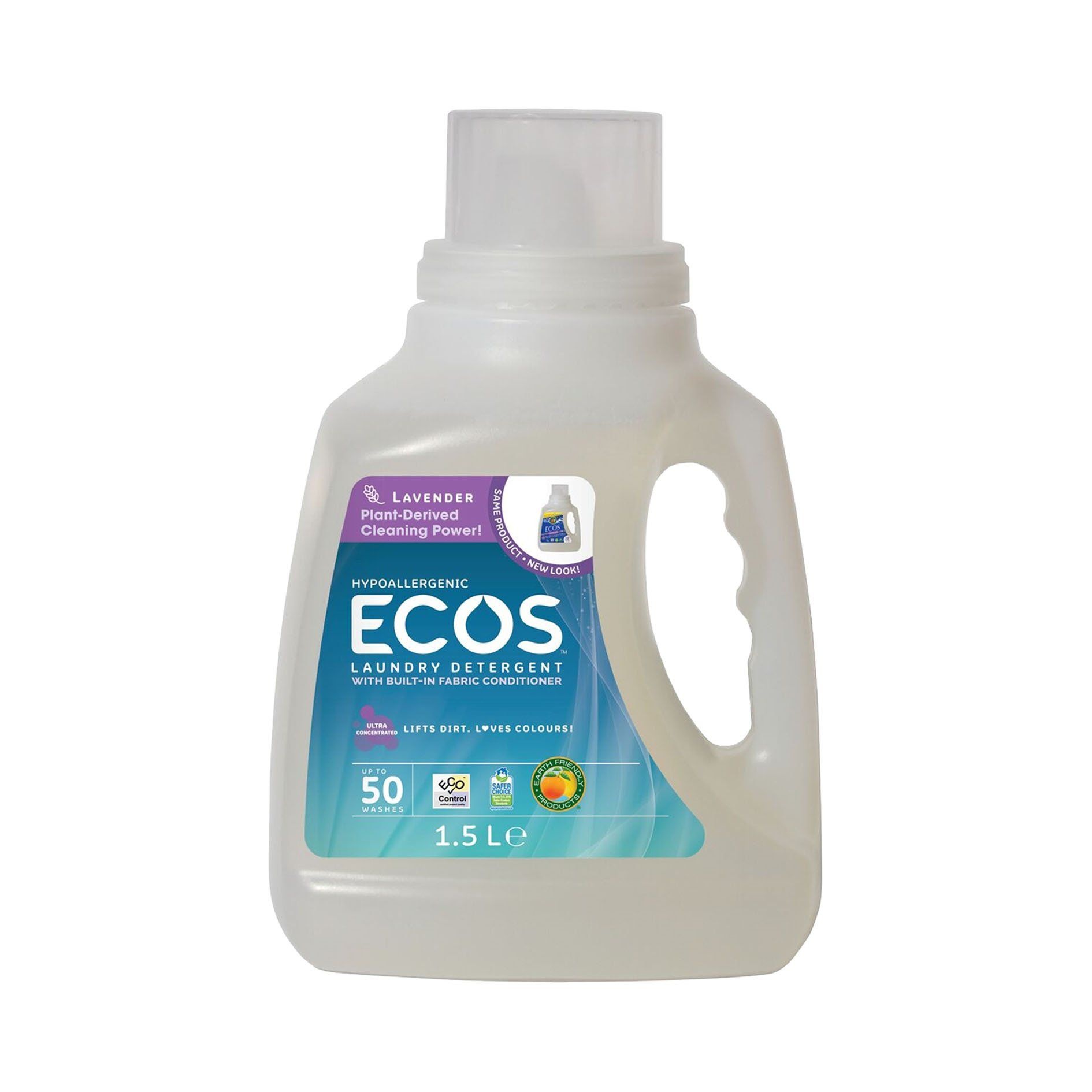 Earth Friendly Products Ecos Liquid Laundry Detergent Lavender 50