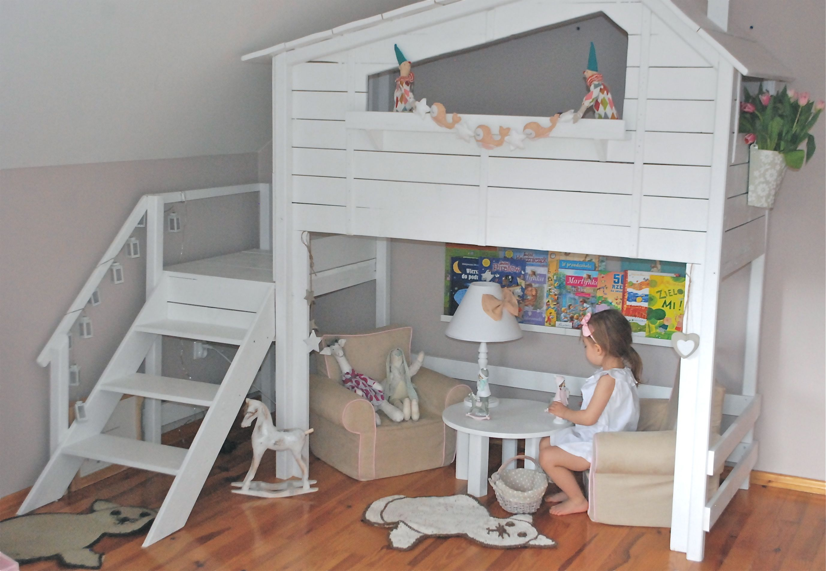 Turn crib into toddler loft bed  Girlus room Bunk bed House Bedroom for little girls  Wnętrza