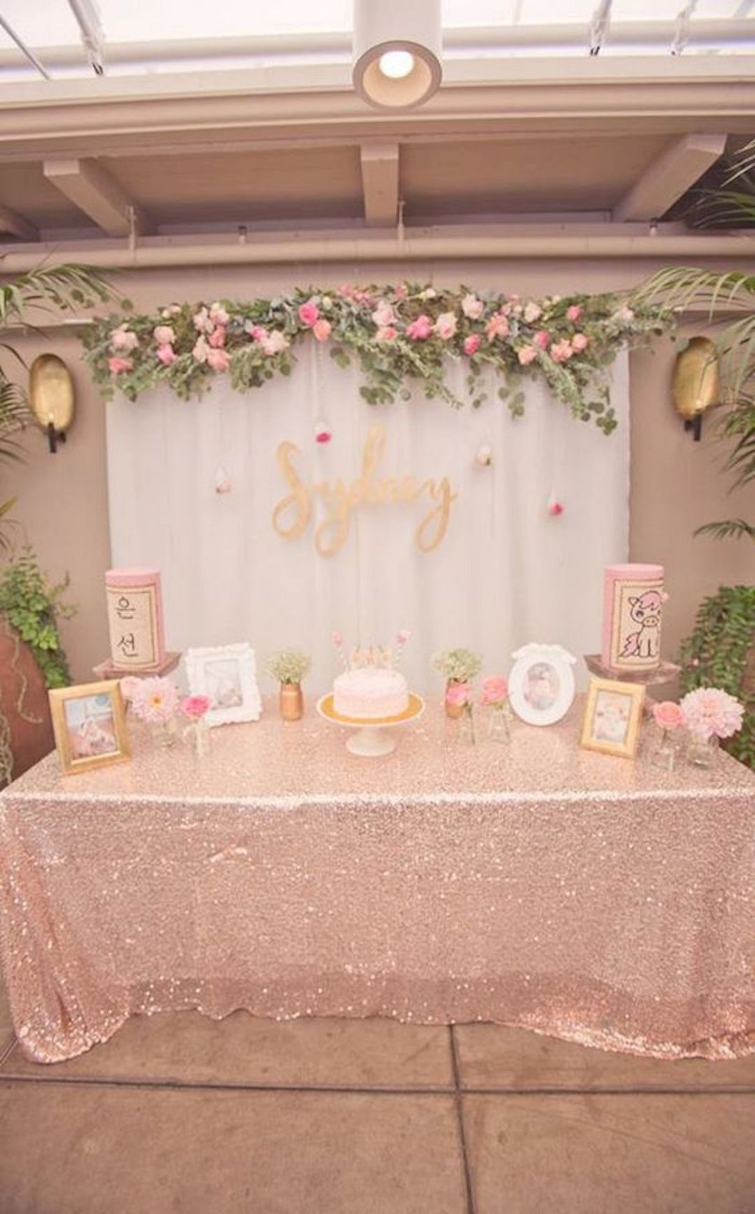 16 Adorable Bridal Shower Decorating Ideas Birthday Parties Floral Baby Shower Gold Party